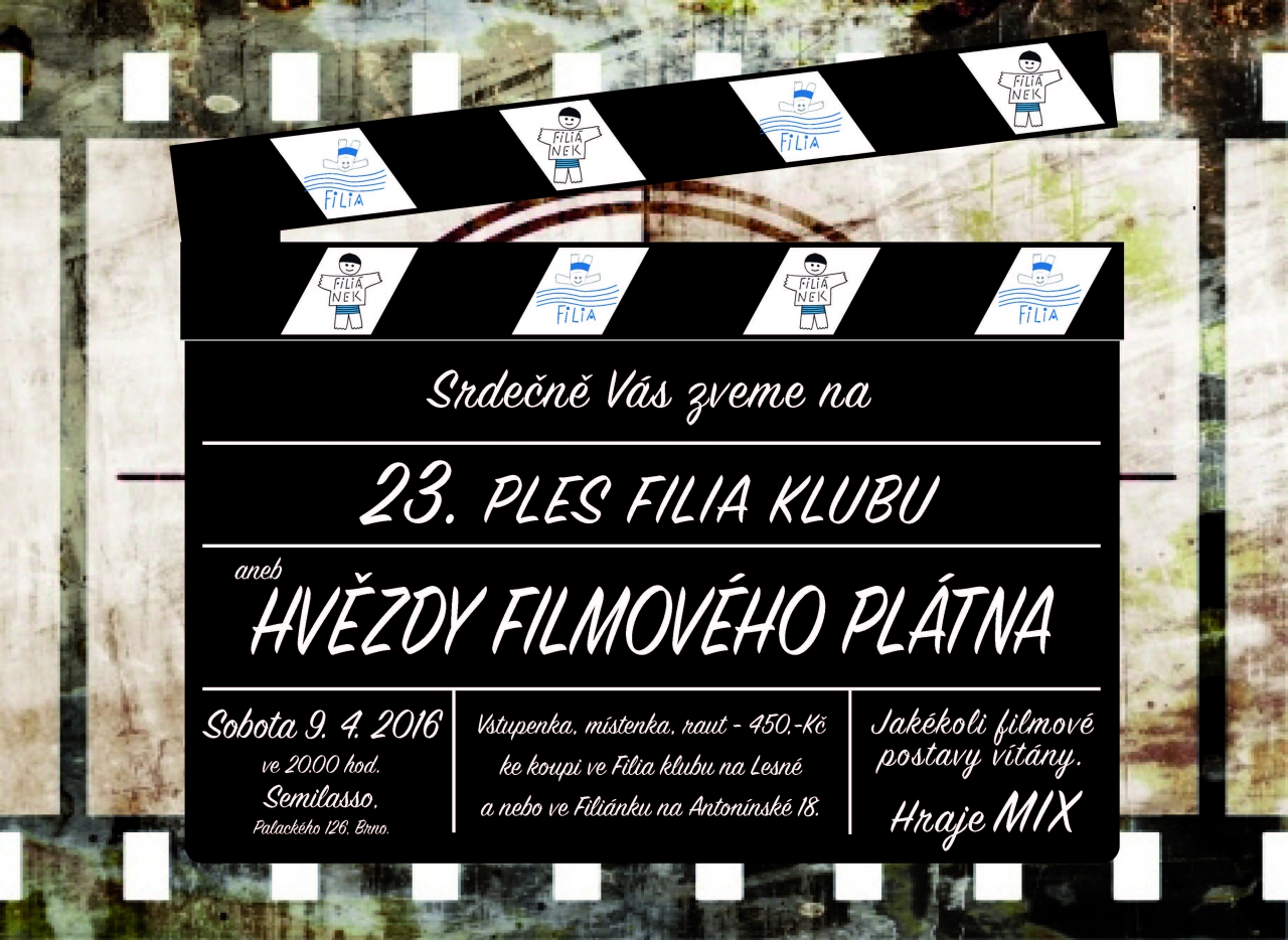 Pozvánka na 23.ples Filia klubu